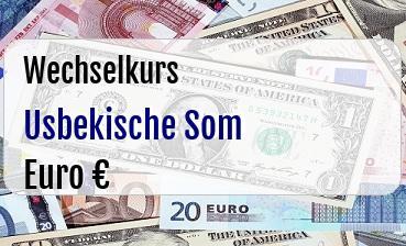 Usbekische Som in Euro