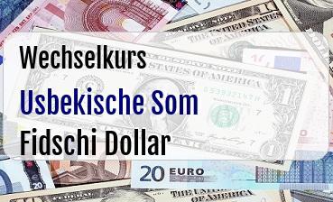 Usbekische Som in Fidschi Dollar