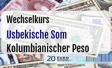 Usbekische Som in Kolumbianischer Peso