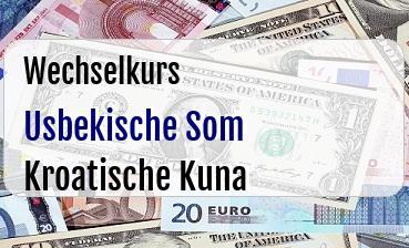 Usbekische Som in Kroatische Kuna