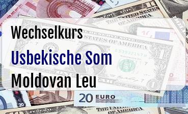 Usbekische Som in Moldovan Leu