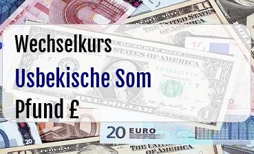 Usbekische Som in Britische Pfund