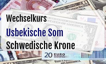 Usbekische Som in Schwedische Krone