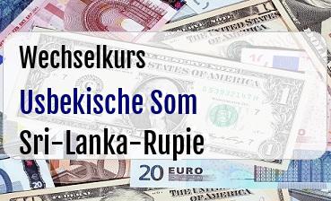 Usbekische Som in Sri-Lanka-Rupie
