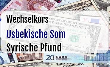 Usbekische Som in Syrische Pfund