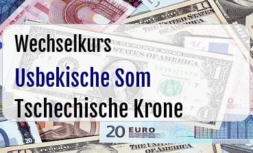 Usbekische Som in Tschechische Krone
