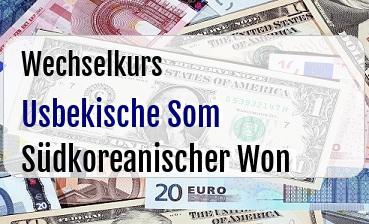 Usbekische Som in Südkoreanischer Won
