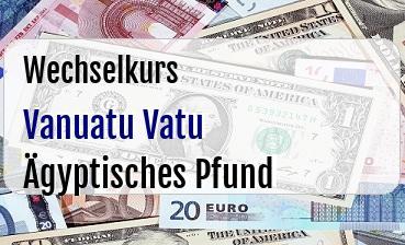 Vanuatu Vatu in Ägyptisches Pfund