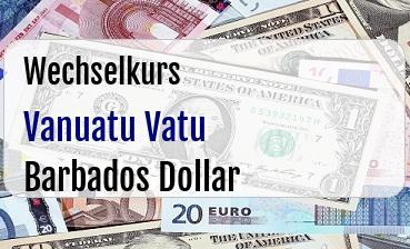 Vanuatu Vatu in Barbados Dollar