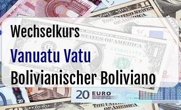 Vanuatu Vatu in Bolivianischer Boliviano