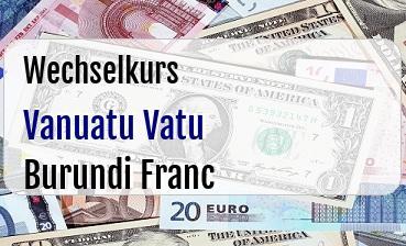 Vanuatu Vatu in Burundi Franc