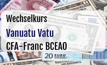 Vanuatu Vatu in CFA-Franc BCEAO
