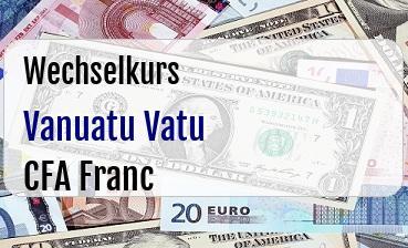 Vanuatu Vatu in CFA Franc