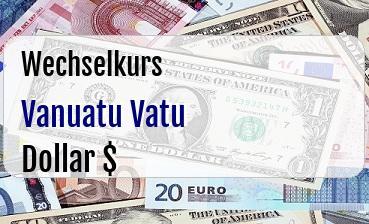 Vanuatu Vatu in US Dollar