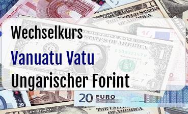 Vanuatu Vatu in Ungarischer Forint
