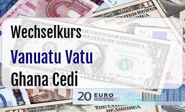 Vanuatu Vatu in Ghana Cedi