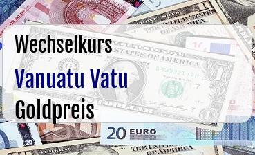 Vanuatu Vatu in Goldpreis
