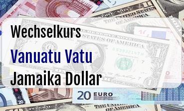 Vanuatu Vatu in Jamaika Dollar
