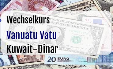 Vanuatu Vatu in Kuwait-Dinar