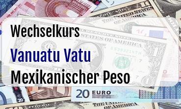 Vanuatu Vatu in Mexikanischer Peso