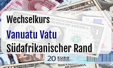 Vanuatu Vatu in Südafrikanischer Rand