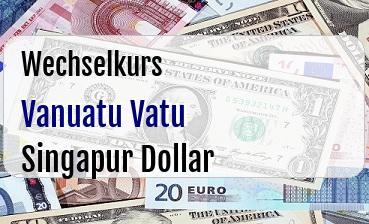Vanuatu Vatu in Singapur Dollar