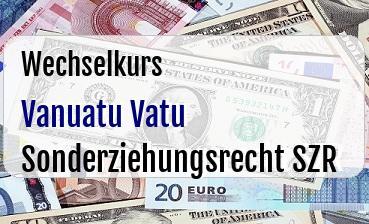 Vanuatu Vatu in Sonderziehungsrecht SZR