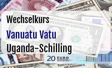 Vanuatu Vatu in Uganda-Schilling