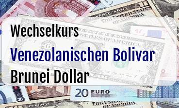 Venezolanischen Bolivar in Brunei Dollar