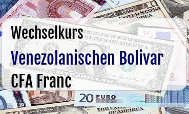 Venezolanischen Bolivar in CFA Franc