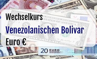 Venezolanischen Bolivar in Euro