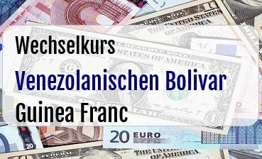 Venezolanischen Bolivar in Guinea Franc