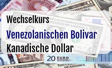 Venezolanischen Bolivar in Kanadische Dollar