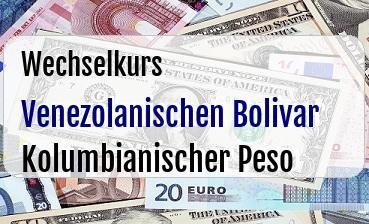 Venezolanischen Bolivar in Kolumbianischer Peso