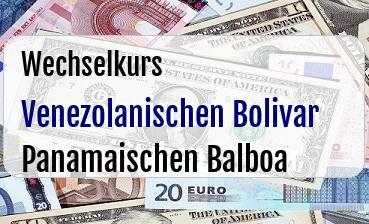 Venezolanischen Bolivar in Panamaischen Balboa