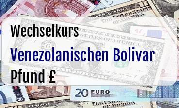 Venezolanischen Bolivar in Britische Pfund