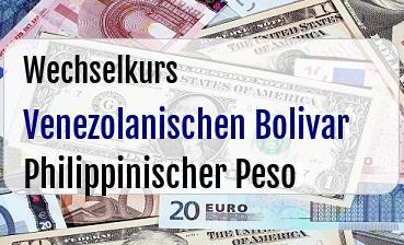 Venezolanischen Bolivar in Philippinischer Peso