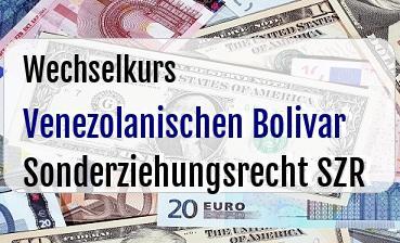 Venezolanischen Bolivar in Sonderziehungsrecht SZR