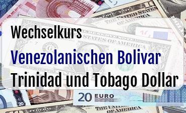 Venezolanischen Bolivar in Trinidad und Tobago Dollar