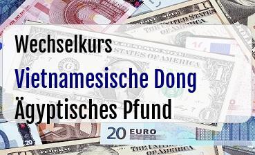 Vietnamesische Dong in Ägyptisches Pfund