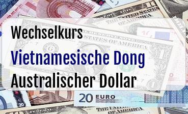 Vietnamesische Dong in Australischer Dollar