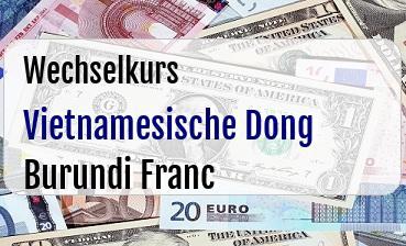 Vietnamesische Dong in Burundi Franc