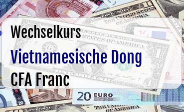 Vietnamesische Dong in CFA Franc