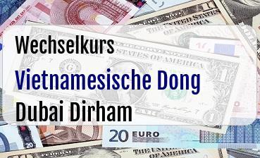 Vietnamesische Dong in Dubai Dirham