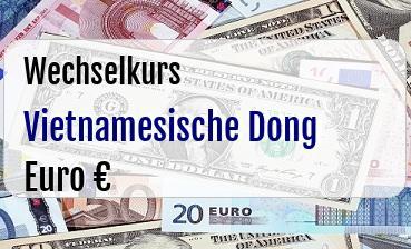 Vietnamesische Dong in Euro