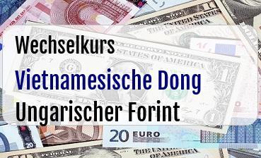 Vietnamesische Dong in Ungarischer Forint