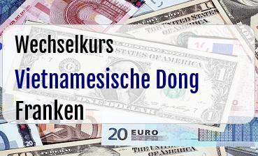 Vietnamesische Dong in Schweizer Franken