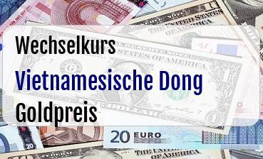 Vietnamesische Dong in Goldpreis