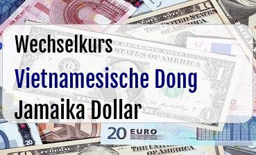 Vietnamesische Dong in Jamaika Dollar