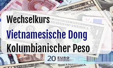 Vietnamesische Dong in Kolumbianischer Peso